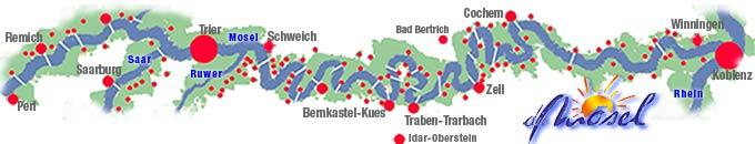 Mosel Karte Mit Allen Orten.Die Mosel Alle Orte An Mosel Saar Und Ruwer Im Moseljournal